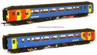 156-119 Realtrack Models Class 156 2 Car Sprinter DMU number 156 406 in East Midlands Trains livery