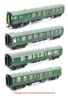 31-426C Bachmann Class 411 4-CEP 4-Car EMU number 7122 in BR (SR) Green (Small Yellow Panels) - Weathered