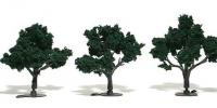 "TR1508 Woodland Scenics Realistic Trees Dark Green 3"" - 4"" Pack of 3"