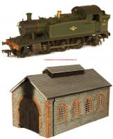 32-135XP Bachmann Class 4575 Prairie Tank and Engine Shed Pack