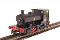 H4-AB14-001 Hattons Andrew Barclay 0-4-0ST Steam Locomotive number 705 in BR Black livery with early emblem