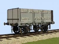 "7059BR Slaters 7 Plank Open Wagon Kit -  ""Barry Rhonda Colliery Co"", Pontypridd"