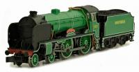 "2S-002-003D Dapol Schools Class 4-4-0 Steam Locomotive number 929 named ""Malvery"" in Malachite Green livery"