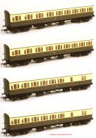 K9614 Hornby GWR Collet Bow Ended Coach Pack Special Offer