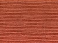 56690 Noch Plain Red Tile 3D Cardboard Sheet 25x12.5cm