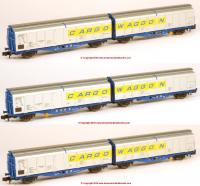 N-IZA-2301 Revolution Trains IZA Cargowaggon Twin Sets – Triple pack in Original livery 1986-2000