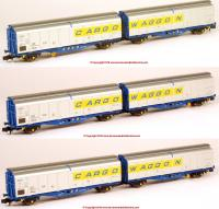 N-IZA-2302 Revolution Trains IZA Cargowaggon Twin Set – Triple pack in Revised livery 2000-present