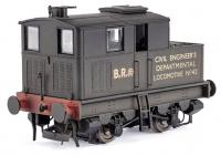 KMR-016 Dapol Y3 Sentinel Steam Locomotive number 42 in BR Black livery with Civil Engineers Locomotive lettering