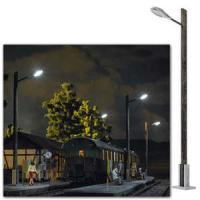 10800 Busch O Street lamp on wooden pole 180mm high