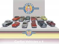 76CPK001 Oxford Rail Carflat Pack 1960s Cars